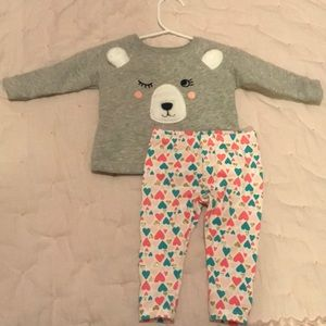 Never worn pink grey carters outfit